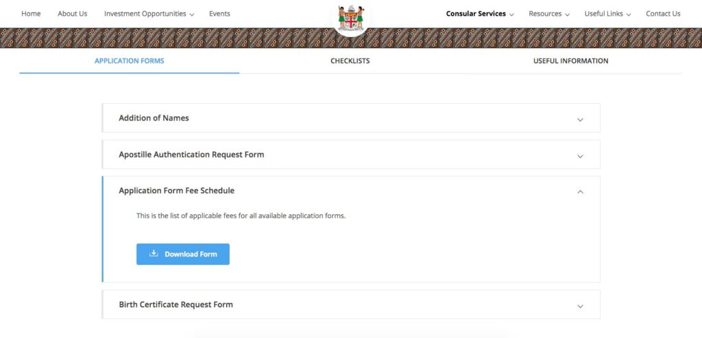 Online Applications Fiji Consulate General Trade Commission